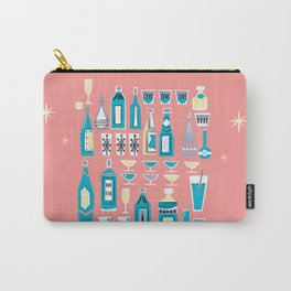 Cocktails And Drinks In Aquas and Pinks Carry-All Pouch
