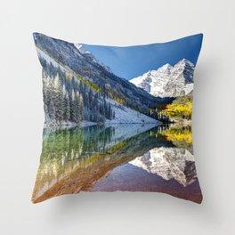 Maroon Bells Colorado Throw Pillow