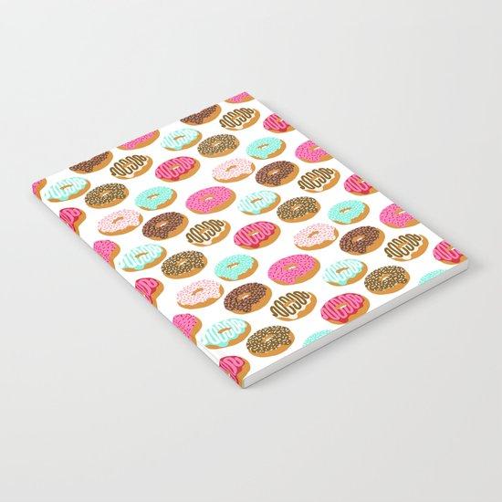 Donuts art print junk food pattern design kids minimal modern kitchen baking breakfast hipster baker Notebook