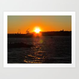 February Sunset at Bug Light (7) Art Print