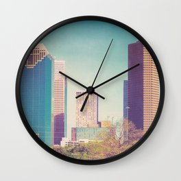 Downtown Houston Panorama Wall Clock