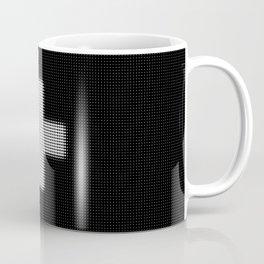 Halftone Plus Black Coffee Mug
