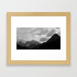 Kranjska Gora in black and white Framed Art Print