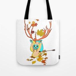 Caribou leaf autumn Tote Bag