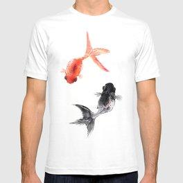 Two KOI , Feng Shui, Fish art, T-shirt