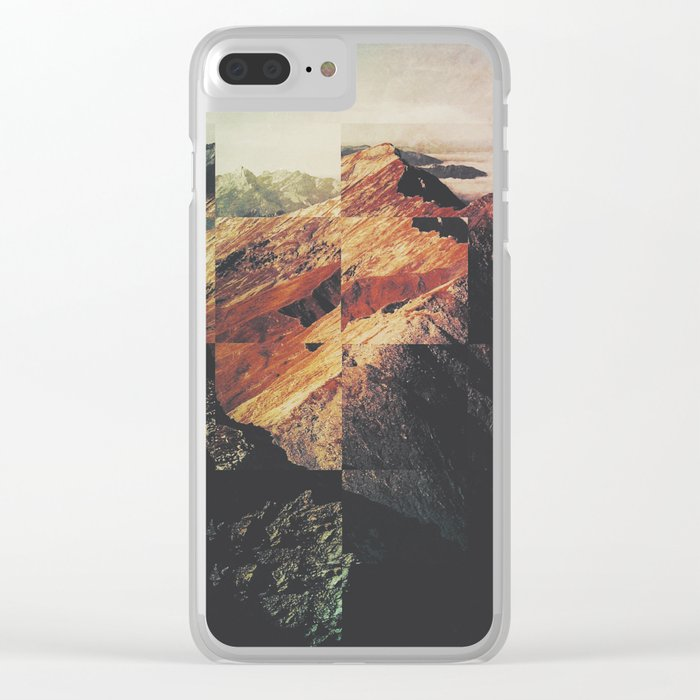 Fractions A89 Clear iPhone Case