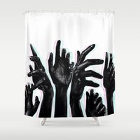 hands Shower Curtains featuring Hands by Nasayousef