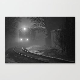 Train In The Fog Canvas Print