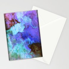 Fluid painting in blue and purple Stationery Cards