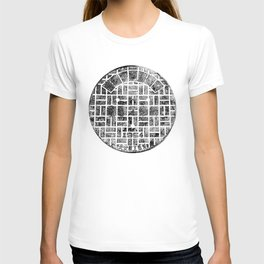 1954 Manhole Cover Ink Print From Beijing T-shirt