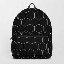 Simple Honeycomb Pattern- Black & White- Mix & Match with Simplicity of Life Backpack