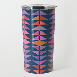 Colorful Triangles Travel Mug