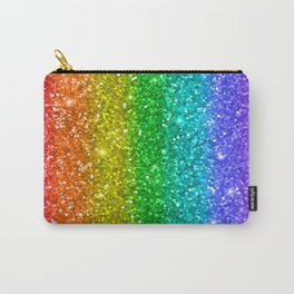 Glittery Rainbow Carry-All Pouch