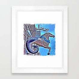 Mer-horse Framed Art Print
