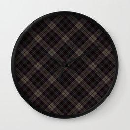 Scottish tartan #44 Wall Clock
