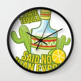 Tequila No Juan Ever Cinco De Mayo Party Wall Clock