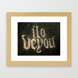 iloveyou Framed Art Print