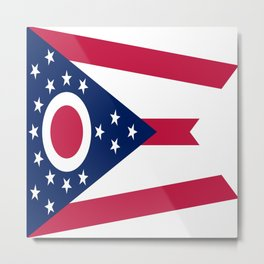 flag of Ohio,Midwest,Ohioan,Buckeye,Colombus,Cleveland,Cincinnati,Usa,america,united states,us Metal Print