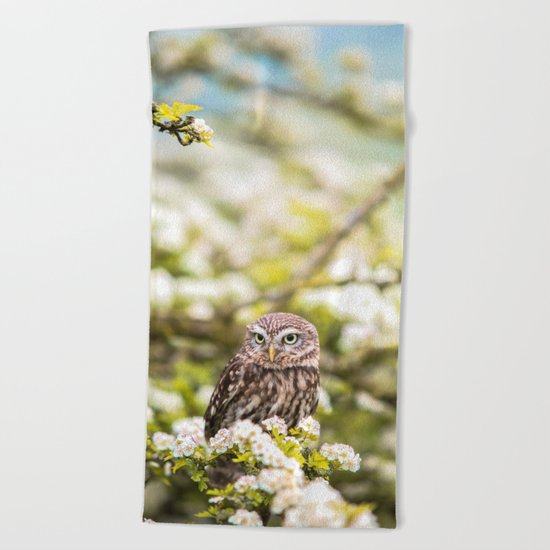 Wise Owl Beach Towel