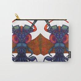 A fibre (felt-tip) pens illustration (pointillism) of an insect alien. Carry-All Pouch