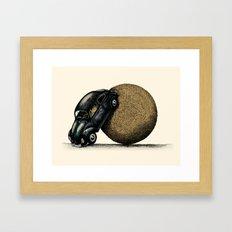 Volksdung Beetle Framed Art Print