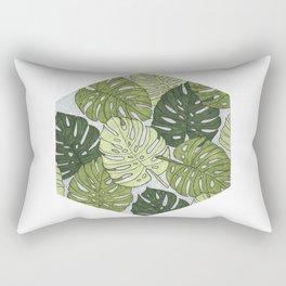 Monstera Hexagon Pattern Rectangular Pillow