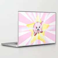 kirby Laptop & iPad Skins featuring Kirby by DROIDMONKEY