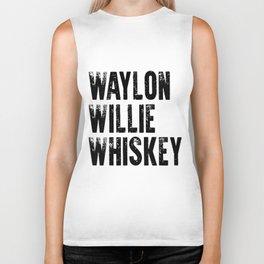 Waylon Jennings Willie Nelson Tennessee wine Biker Tank