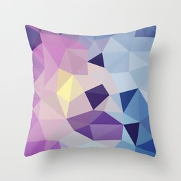 Galactic Tris Throw Pillow