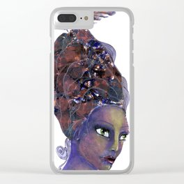 Feather in her Hair Clear iPhone Case
