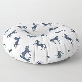 Where the blue horses run Floor Pillow