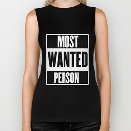 Most Wanted Person Biker Tank