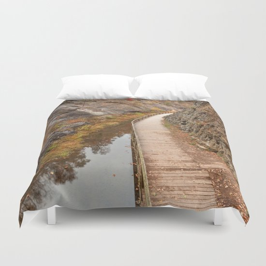 Paw Paw Boardwalk Trail Duvet Cover