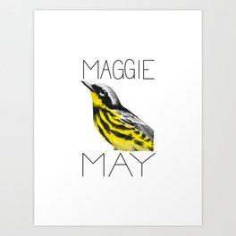 Maggie May (Magnolia Warbler) Art Print