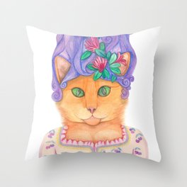 Let them eat cat nip Throw Pillow
