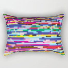 Glitch colorful background Rectangular Pillow