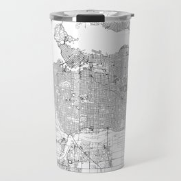 Vancouver Map 2 Travel Mug