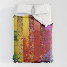 Conundrum I - Abstract Rainbow Goddess Comforters
