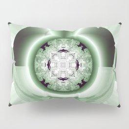 Art Deco Hub Cap in Green Pillow Sham