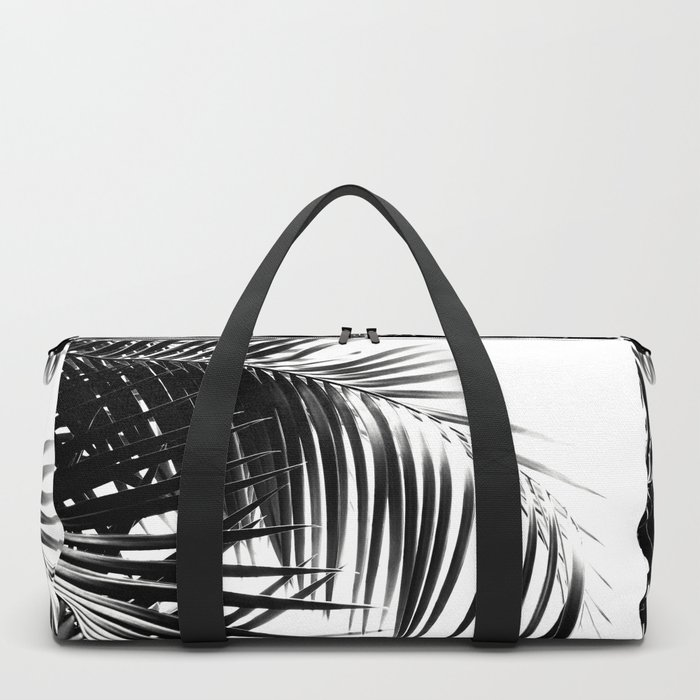 Palm Leaves Black & White Vibes #3 #tropical #decor #art #society6 Duffle Bag