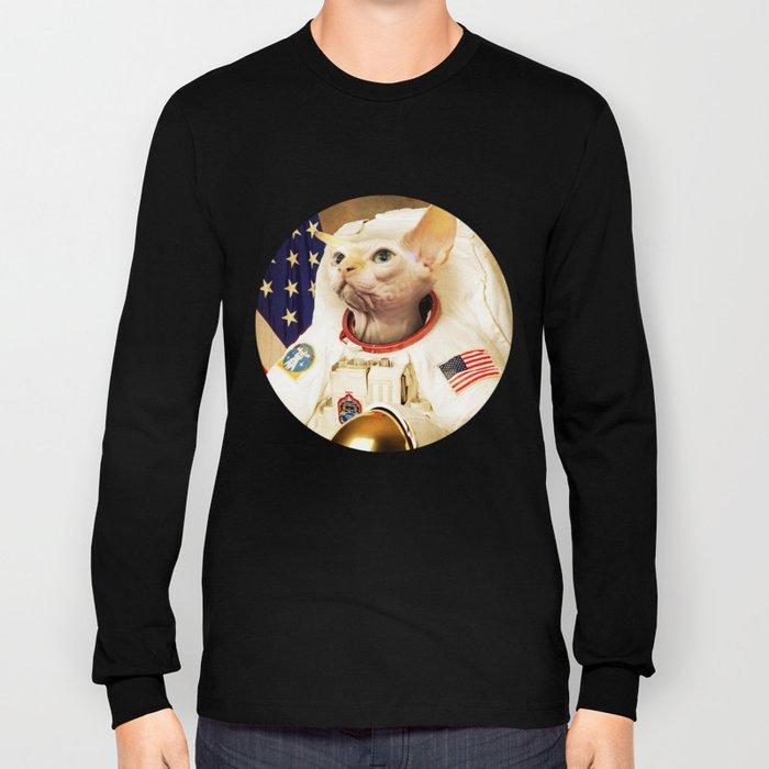 Astronaut Cat Long Sleeve T-shirt