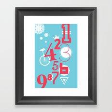 123... Framed Art Print