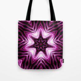 Bright Dark Violet Wine Red Abstract Blossom #purple #kaleidoscope Tote Bag