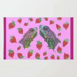 Iguana kisses Rug