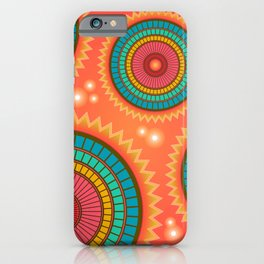 Colored circle ethnic iPhone Case