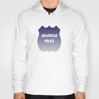 police Hoodies featuring Grammar Police by The Spunky Teaching Monkey- Teacher Stor