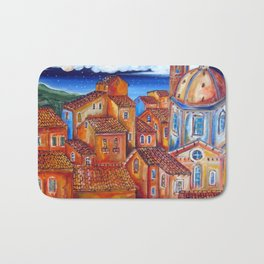 MOONLIGHT and ROOFS Italian Village Bath Mat