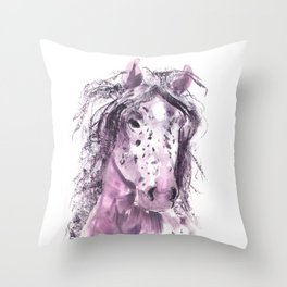 My Pretty Pony in Pink Throw Pillow