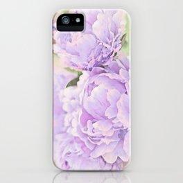 Lavender Peonies iPhone Case