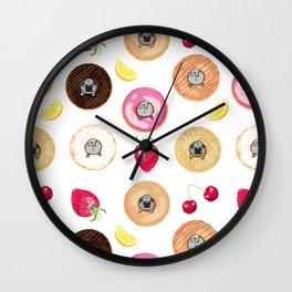 Donut Pugs Wall Clock